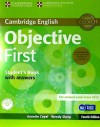 Objective First Student's Book Pack (student's Book With Answers With Cd-rom And Class Audio Cds(2)) 4th Edition
