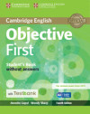 Objective First Student's Book Without Answers With Cd-rom With Testbank 4th Edition
